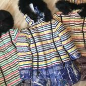 Очень тёплое зимнее пальто Anernuo р 120-160