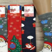 Махровые новогодние носочки женские, детские, мужские Турция и Украина.Отличный подарок на праздники