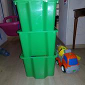 Набір з 3 великих ящиків для іграшок і не тільки. IKEA