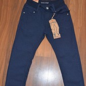Котоновые брюки на евро-резинке 122-152см структурная ткань Taurus наличие