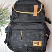 Рюкзак городской, школьный, спортивный, повседневный. Ткань: плотный холст. Выкуп 3.09