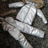 Зимние комбинезоны с натуральным мехом! Мои Реал фото+ замеры!