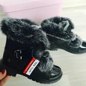 Срочное СП, зимние ботиночки на девочку, натуральний кролик с Польши, выкуплены, ожидаю с Польши