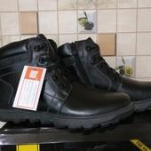 Зимние ботинки, р.40-45 натуральная кожа и нат. мех,выкулены