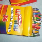Разные восковые карандаши, упаковки 24шт., 36шт. и 48 шт. Некоторые позиции есть в наличии.