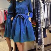 """Женское платье """"Fleur""""синее"""