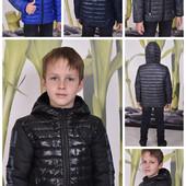 Демисезонные куртки для мальчика, р.116-164
