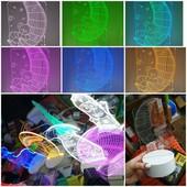 Новинка! Подарок Оптический обман Светильник в 3D