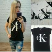 Женская футболка бренд Кельвин Кляйн .100% хлопок.