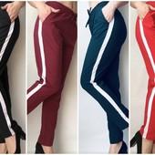 Женские летние брюки-штаны, ткань софт., норма и батал.