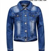 Сбор!!!В наличии ф.1,3,5 !!!Джинсовая куртка,юбка,шорты для девочки Glo-Story 122-164 см.