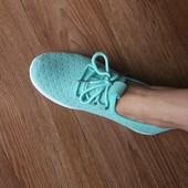 Классные дышащие текстильные кроссовки, качество отличное, реальные фото, Темно синие и мята