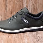Мужские стильные кроссовки в стиле Ecco (ЛК-10Б)
