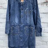 52-60размеры Джинсовая удлиненная куртка кардиган большого размера качество!