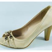 Уже выкуплены!!!Шикарные женские бежевые туфли с открытым носком