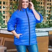 Куртка  плащовка полоска-зигзаг на синтепоне 150,Размер: 50-52, 54-56, 58-60 выкуп 4 раза в неделю