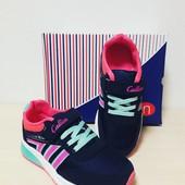Кроссовки на девочек ТМ Callion (синие с розовым)