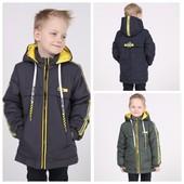 Демисезонные курточки для мальчиков р.128-152, 98-116