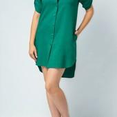 Платье-рубашка лен штапель софт р 42-54 реальные фото