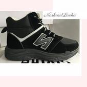 Черные зимние кроссовки женские