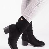 ботинки на каблуке  качество отличное