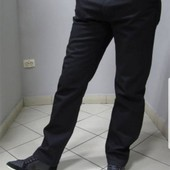 Мужские джинсы  на флисё чёрные !