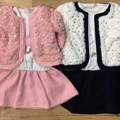 Модные комплекты для принцесс 3/4-7/8 и 4-12 лет. Венгрия. фото 1 выкупила.