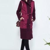 Скоро весна! Модное деми пальто: кашемир + плащевка. Много цветов.