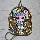 Рюкзак с куклами Lol (Лол)и двусторонними пайетками