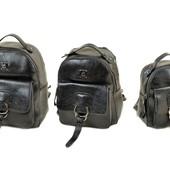 Распродажа на складе! Качественные рюкзаки Alex Rai, 3 размера, черный/розовый/темное серебро