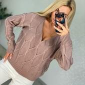Женские теплые вязаные свитера