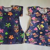 Платье туника для девочки, много расцветок! Есть остатки