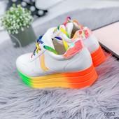 Кроссовки женские Rainbow мульти