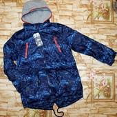 Модная куртка-парка Grace на флисовой подкладке 134-164 р