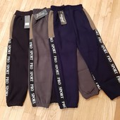 Багато в наявності + викуп !Детские брюки спортивные зимние теплые на меху на 6-14 лет