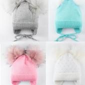 Большой выбор мальчик или девочка !!отличные шапочки очень яркие все зима