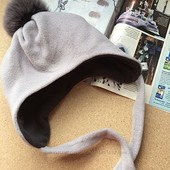 Уже в наличии!!!Очеень теплая флисовая детская шапочка с утеплителем.