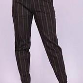Шерстяные женские брюки с мехом