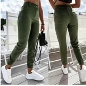Класні джегінси на резинці спорт штани від 42 по 54р