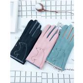 Замшевые и шерстяные перчатки для девушек и женщин № 21