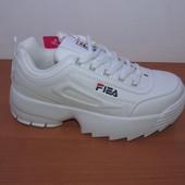 Срочный сбор! Белые кроссовки в стиле Fila