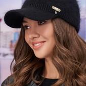 женские теплые кепки ангорка