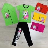 Літній дитячий костюм З Єдинорожками для дівчинки