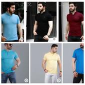 Скидка 25-30%!! Мужская рубашка, поло, футболка! Турция!!!! С принтом, однотонные, клетка, полоска.