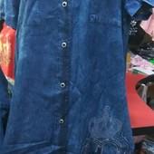 Сп!!! Женские Турецкое х/б джинсовое платье с коротким рукавом.48-60укр.р-р