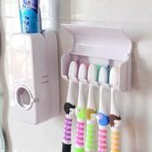 Дозатор для зубной пасты держателем для щеток