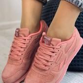 Последний размер 36!!! Женские замшевые кроссовки reebok.