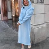 Теплое платье с ушками)