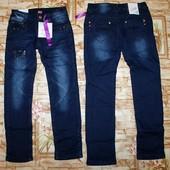 Модные джинсы Grace на флисе на девочку 134,158,-164 р