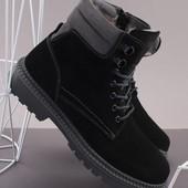 Зимние ботинки. Натуральная кожа, натуральная замша. Быстрый сбор